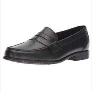 Rockport black walkability Leather Penny Loafer